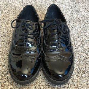ASOS patent leather oxfords